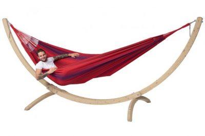 Hangmat met houten standaard