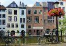 Oude grachtenpanden in Utrecht